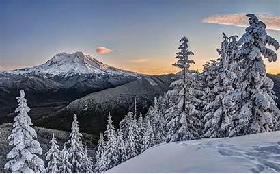Winter Mount Rainier Washington Nationalpark National Zet