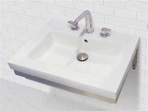 Decolav Wall-mount Rectangular Lavatory With Stainless