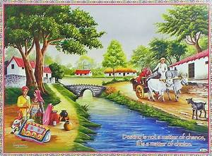 Village Scene From Rajasthan
