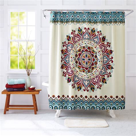 Curtain: Walmart Shower Curtain For Cute Your Bathroom