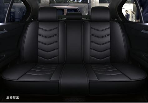 Luxury 5 Seats Full Front+rear Seat Covers Pu Leather Car