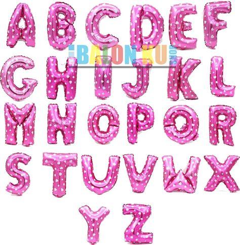 balon foil balon hati jual balon foil huruf a z warna pink dengan pattern hati