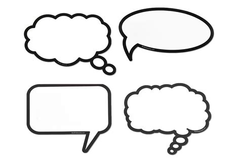 peel and stick wall erase speech thought bubbles