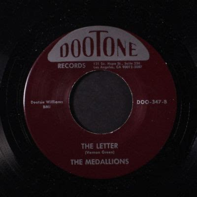 medallions buick   letter  repro vocal groups