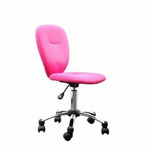 Fauteuil De Bureau Enfant : miliboo chaise de bureau enfant rose lizzy achat ~ Teatrodelosmanantiales.com Idées de Décoration