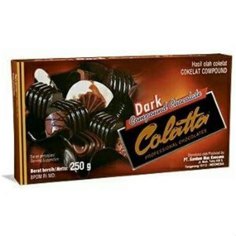 jual coklat batang colatta compound chocolate variasi dark
