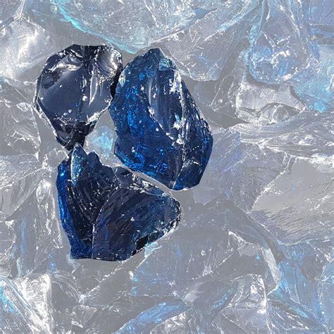 Muster Glasbrocken blau   naturstein-online-kaufen.de
