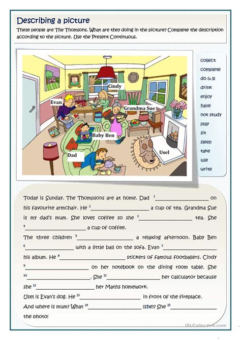 click print document  images teaching english