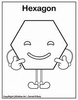 Shapes Coloring Pages Hexagon Shape Preschool Basic Emoji Fun Help Printable Learn Child Different Preschoolers Pre Way sketch template
