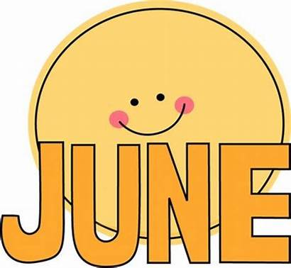 June Clipart Cliparts Clip Month Word