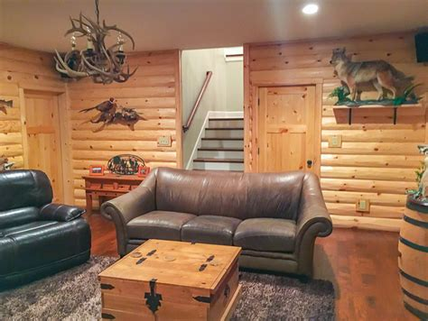 rustic man cave build   log cabin man cave