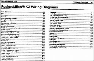 2009 Fusion Milan Mkz Wiring Diagram Manual Original Images