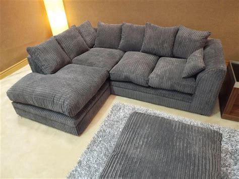 dylan jumbo cord dark grey fabric corner group sofa