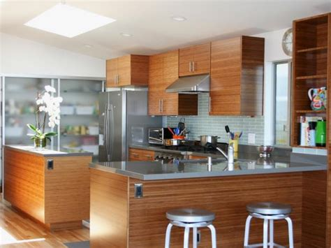bamboo kitchen cabinets pictures ideas tips  hgtv