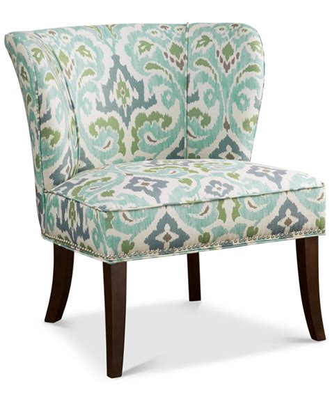 blue green janie armless accent chair everything turquoise