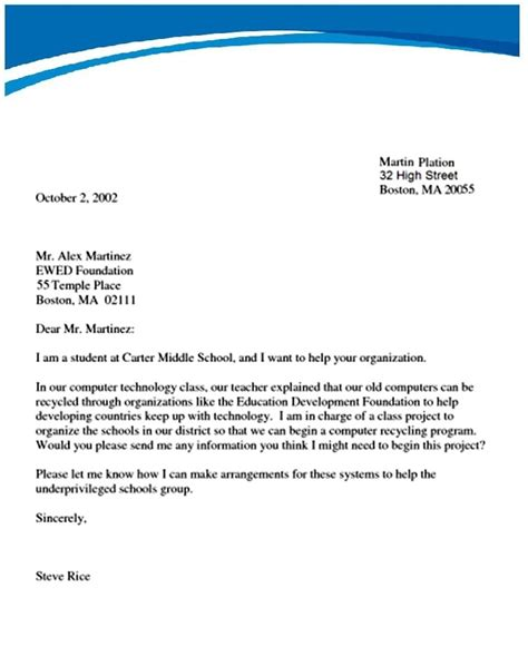 write  formal letter letters  sample