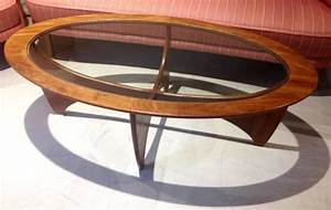 oval teak coffee table with glass top from g plan 1960s With great benefits for using oval glass coffee table