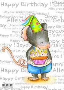 Happy Birthday Maus : maus alles gute zum geburtstag happy birthday joyeux anniversaire graphics illustration ~ Buech-reservation.com Haus und Dekorationen