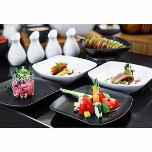 Assiette Carrée Blanche : assiette carr e en porcelaine blanche ~ Teatrodelosmanantiales.com Idées de Décoration