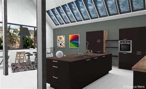 cuisine ixina 3d cuisine ixina en 3d dans un loft
