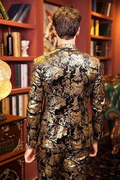 fire kirin men suits  wedding  luxury brand black