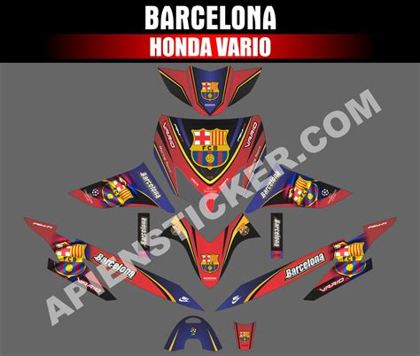 striping motor vario  barcelona apien sticker