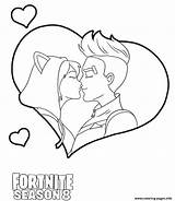 Fortnite Coloring Pages Kiss Printable Drift sketch template