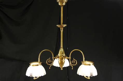 sold victorian  antique  light gas chandelier electrified harp gallery