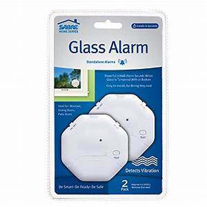 Sabre Wireless Window Glass Break  U0026 Vibration Detector