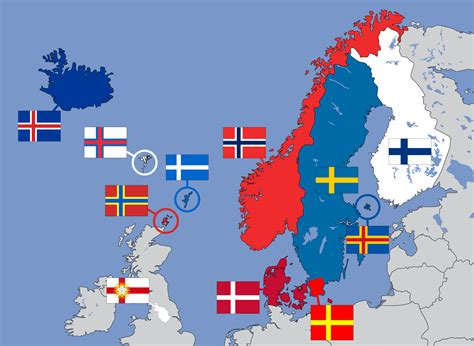 Which For The Nordic Countries Nordic Cross Flags Of Northern Europe 2000x1463 Mapporn