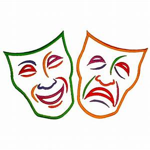 Comedy Tragedy Masks Embroidery Designs, Machine ...