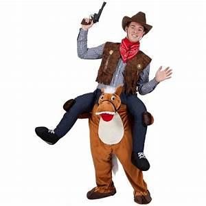 Cowboy Auf Pferd Huckepack Kostm