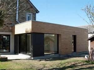 Extension Maison Bois Kit : maison ancienne avec extension moderne ides ~ Melissatoandfro.com Idées de Décoration