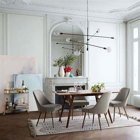 mid century expandable dining table west elm