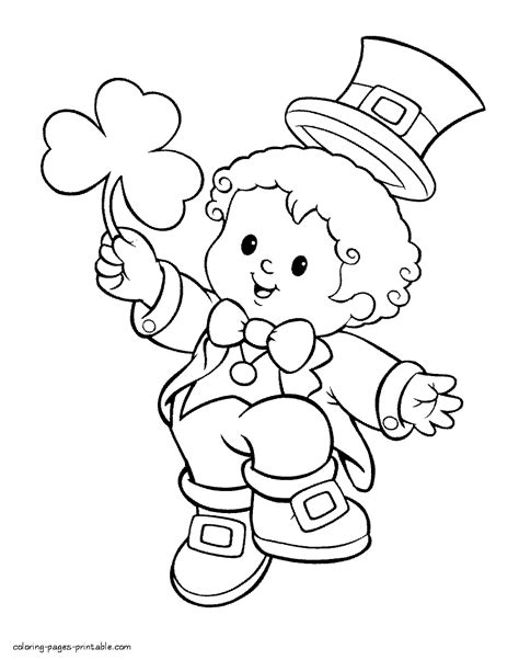 boy  leprechaun costume coloring page coloring pages