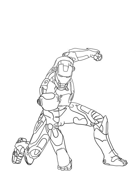 strong iron man coloring page  printable coloring pages  kids