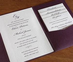 pocket folders for letterpress invitation suites With wedding invitation pocket enclosures