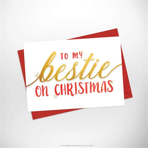 I'd walk through fire for you! Bestie Christmas Card / Printable To my Bestie On Christmas