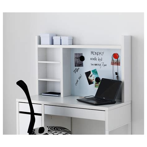 ikea bureau mike micke add on unit high white 105x65 cm ikea