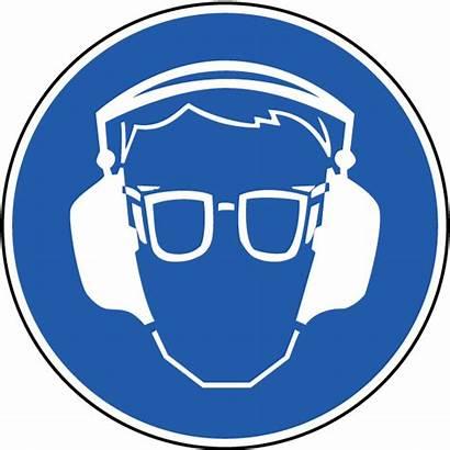 Ppe Protection Eye Ear Symbol Wear Mandatory