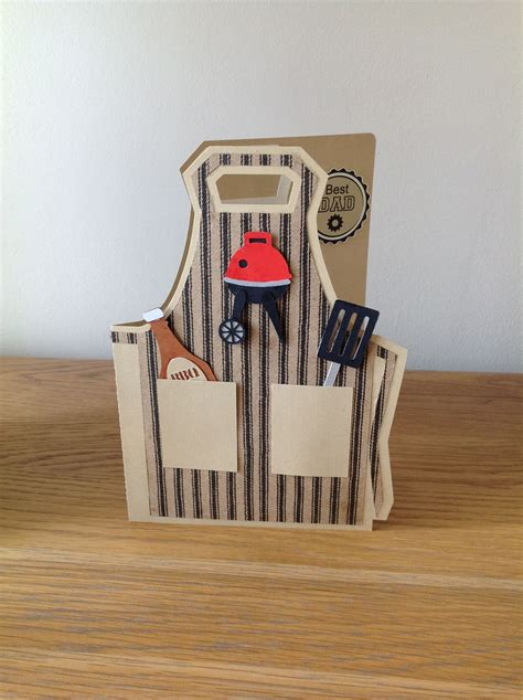 bbq apron fathers day card  images cool cards