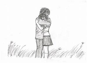 A couple hugging by short-stuff-rita on DeviantArt