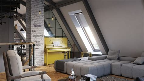 Three Colored Loft Apartments With Exposed Brick Walls by Join The Industrial Loft Revolution