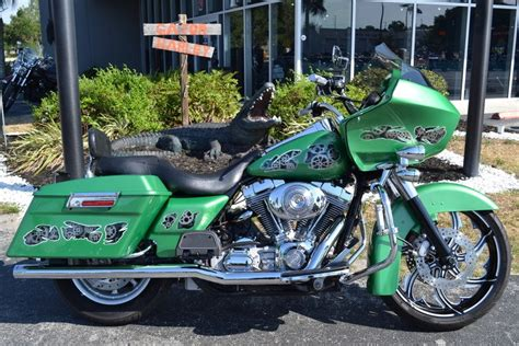2006 harley davidson 174 fltr i road glide 174 green with