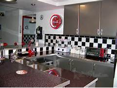 Finishing Touches Include A Vintage Style Coca Cola Clock And Black Vintage Kitchen Look Without Sacrificing Your Appliances Or Even Your Kitchens From The 1950s Interior Decorating Of 8 In The Series Beautiful And Exquisite Vintage Home Decor Ideas