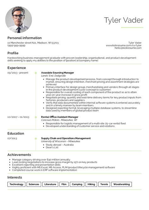 business management graduate cv exle resume sles