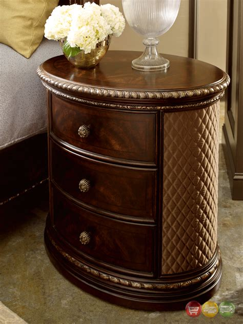 gables  drawer antique dark cherry oval nightstand