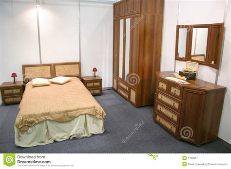 chambre en chambre à coucher en bois photographie stock libre de