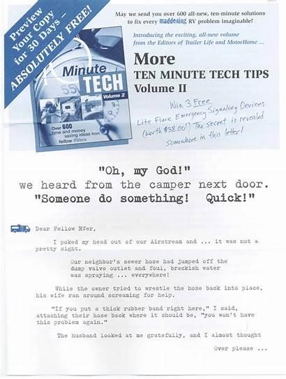 Direct Mail Letter Sales Minute Ten Tech