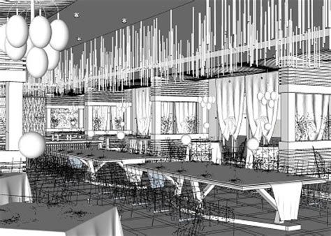 sketchup cuisine free 3d models shops bar tropical restaurant by duc